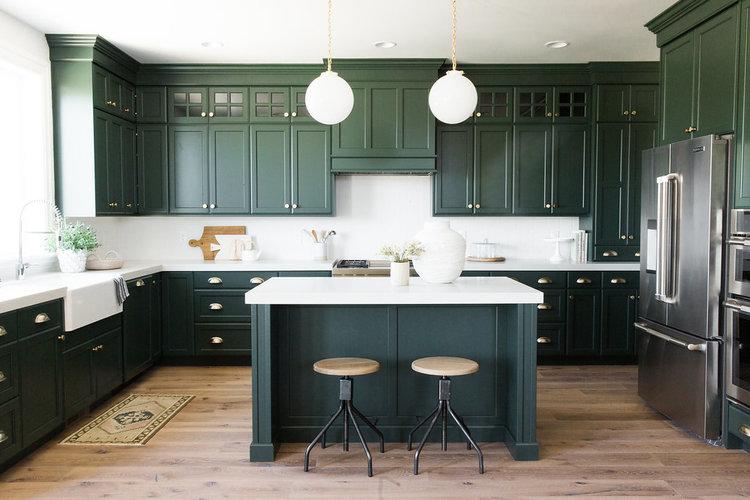 Phá cách với những gian bếp màu ngọc lục bảo